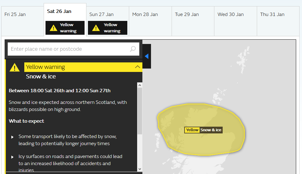 f99739c1a3d Yellow snow and ice warning for the weekend