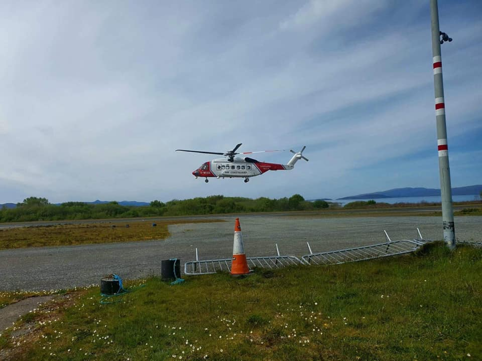 725433a173aa3 A 70-year-old woman with an injured ankle was rescued yesterday (Wednesday  15 May.)