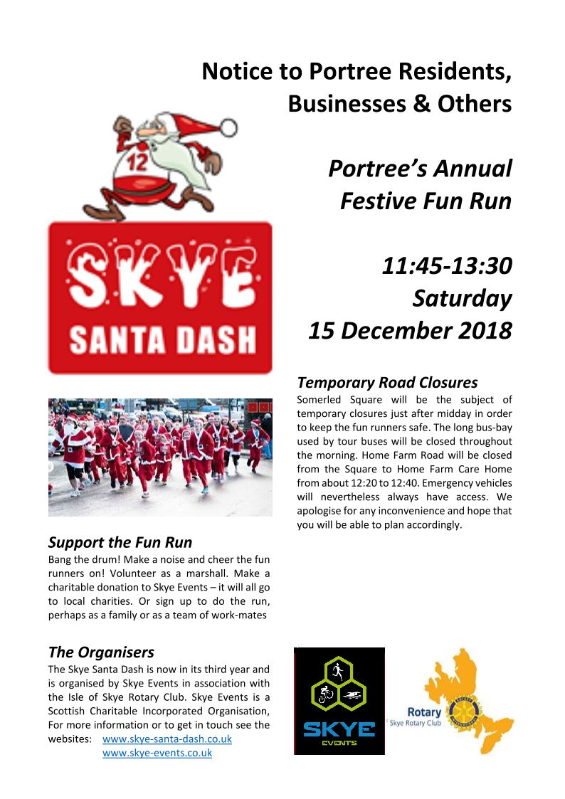 The Skye Times Volcanoes Diagram Shetland39s Volcano Shetland Amenity Trust Portree Road Closure During Santa Dash